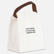 I wish the realization of our hap Canvas Lunch Bag