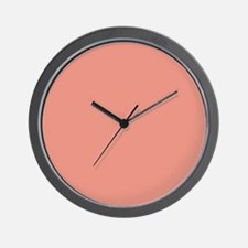 abstract coral pink peach Wall Clock