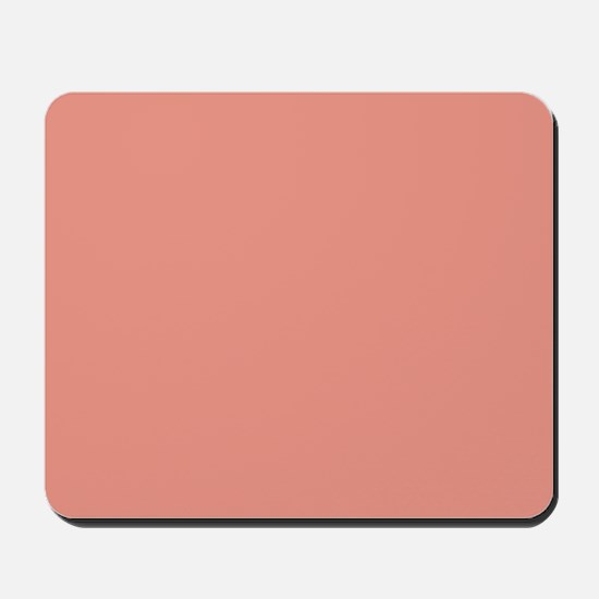 abstract coral pink peach Mousepad