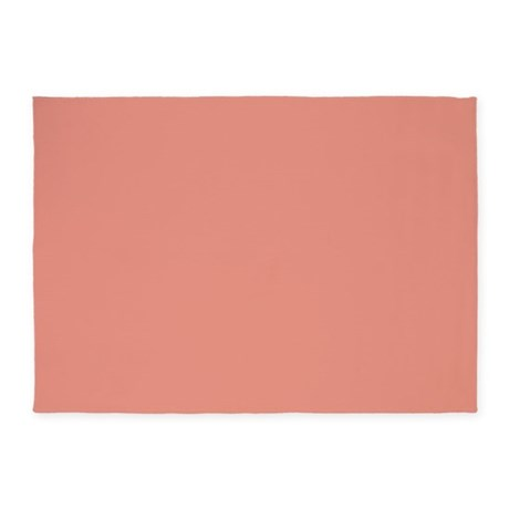 abstract coral pink peach rug