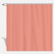 abstract coral pink peach Shower Curtain