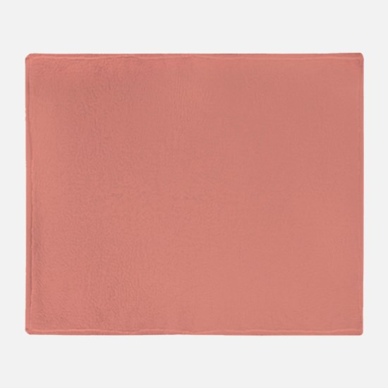 abstract coral pink peach Throw Blanket