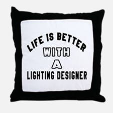 Lighting Designer Designs Throw Pillow