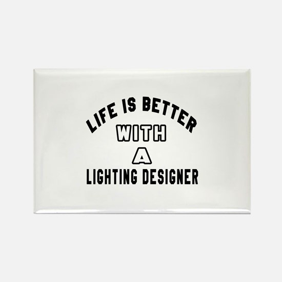 Lighting Designer Designs Rectangle Magnet