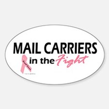 Mail Carriers In The Fight Oval Decal