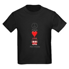 Peace Love Fire Trucks T-Shirt