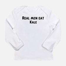 Men eat Kale Long Sleeve T-Shirt