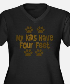 My Kids have Four Feet Plus Size T-Shirt