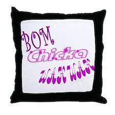 Bom Chicka WahWah Throw Pillow