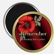 """Remember Poppy 2.25"""" Magnet (100 pack)"""