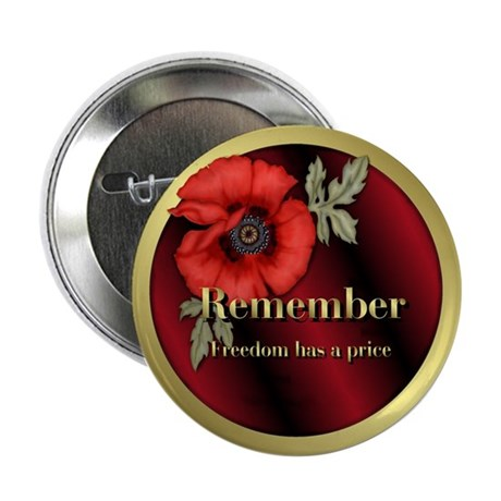 """Remember Poppy 2.25"""" Button (100 pack)"""