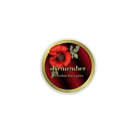Remember Poppy Mini Button (100 pack)