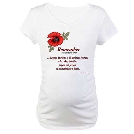 Remember Poppy Maternity T-Shirt