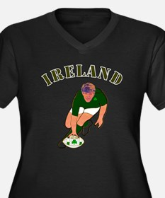 Ireland style rugby player Plus Size T-Shirt