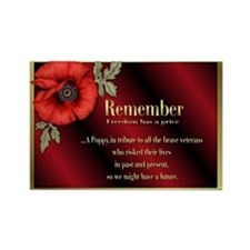 Remember Poppy Rectangle Magnet (10 pack)