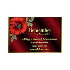 Remember Poppy Rectangle Magnet (10 pack)