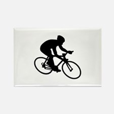 Cycling race Rectangle Magnet (100 pack)