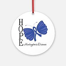 Huntingtons Disease Round Ornament
