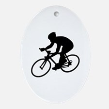 Cycling race Oval Ornament