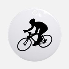 Cycling race Round Ornament
