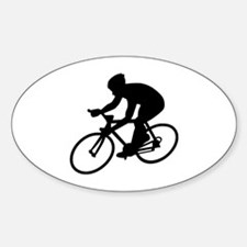 Cycling race Sticker (Oval)