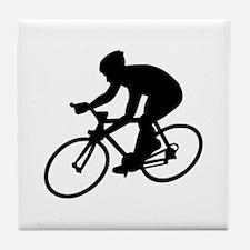 Cycling race Tile Coaster