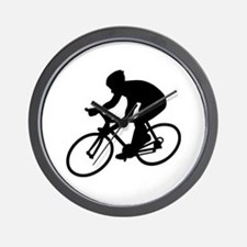 Cycling race Wall Clock