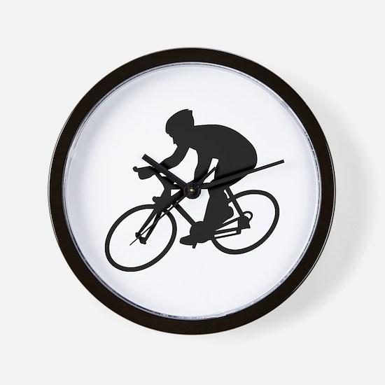 Cycling race Wall Clock