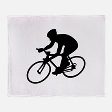 Cycling race Throw Blanket