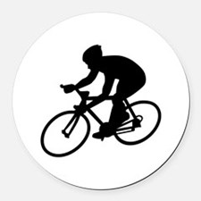 Cycling race Round Car Magnet