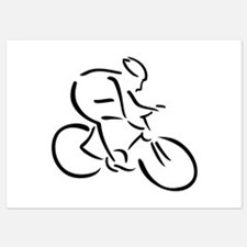 Cycling cyclist Invitations