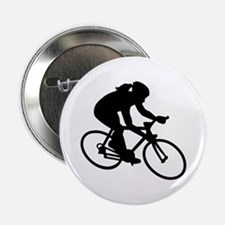 """Cycling woman girl 2.25"""" Button"""