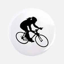 Cycling woman girl Button