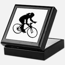 Cycling woman girl Keepsake Box