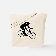 Cycling woman girl Tote Bag