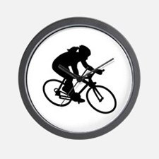 Cycling woman girl Wall Clock