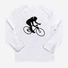 Cycling woman girl Long Sleeve Infant T-Shirt
