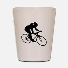 Cycling woman girl Shot Glass