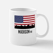 Madison WI American Flag Mugs