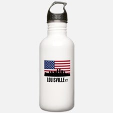 Louisville KY American Flag Water Bottle