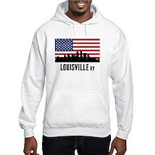 Louisville KY American Flag Hoodie
