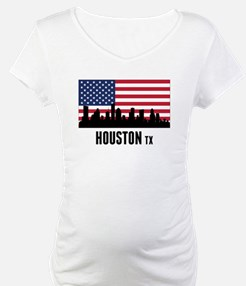 Houston TX American Flag Shirt