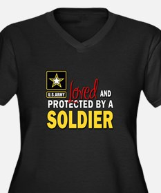 Loved Protected Soldier Plus Size T-Shirt