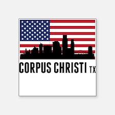 Corpus Christi TX American Flag Sticker