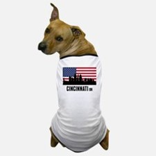 Cincinnati OH American Flag Dog T-Shirt