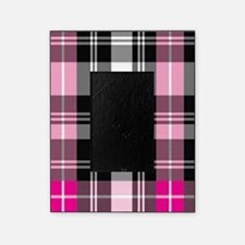 pink & black plaid Picture Frame