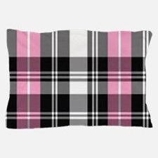 pink & black plaid Pillow Case