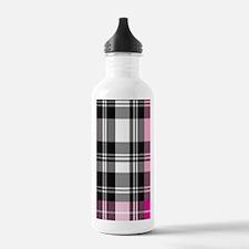 pink & black plaid Water Bottle