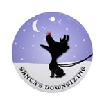 Jack Russell Terrier Christmas Ornament (Round)