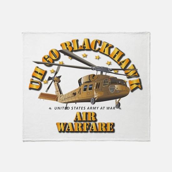 UH - 60 Blackhawk - Air Warfare Throw Blanket